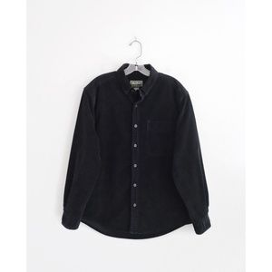 Vtg Eddie Bauer Black Cord Long Sleeve Top L XL